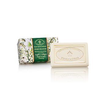 Saponificio Artigianale Fiorentino Handmade Soap - White Flowers - Lovingly Wrapped in Wraps 250g