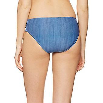Seafolly Frauen's Block Party Multi Strap Bikini Bottom Badeanzug, blau, Größe 6.0