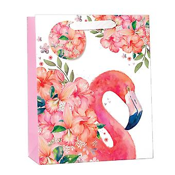 Simon Elvin Floral Flamingo Gift Bags (Pack Of 6)