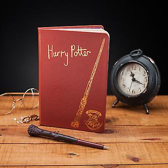 Harry Potter Notebook and Wand Pen Gift Set Hogwarts