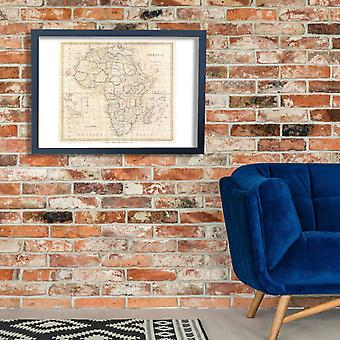 Africa Map Clement Cruttwell 1799 Poster Print Giclee