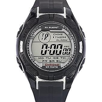 Todos los negros 680294 de analógico a digital reloj Unisex