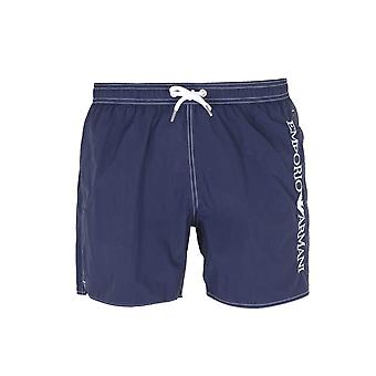 Emporio Armani Side Logo Navy Blue Swim Spodenki