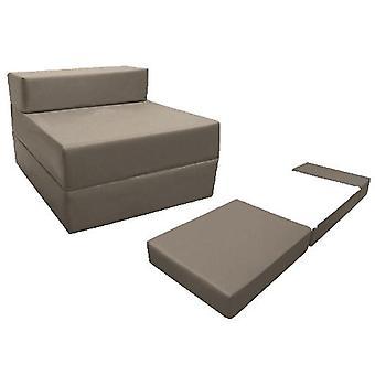 Loft 25 comfortabele uitklapbare Z Bed stoel in donkergrijs. Zacht, comfortabel en lichtgewicht met een verwijderbaar waterbestendige hoes.