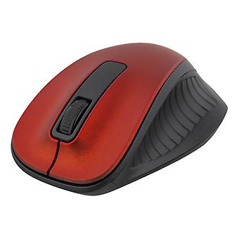 Wireless Optical Mouse, 1200 DPI, 125 Hz, Red