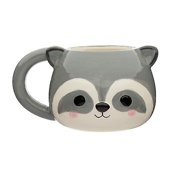 Puckator Cutiemals Raccoon Head Shaped Mug