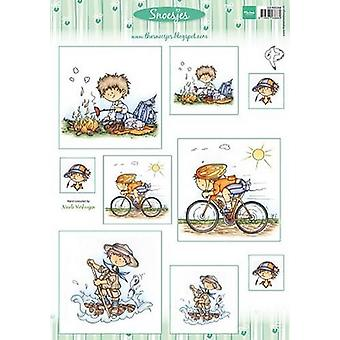 Marianne Design 3D Decoupage sheet Snoesjes Boys 3DHM068