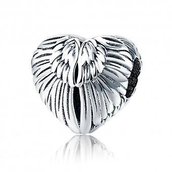Sterling Silver Charm Angel Wings - 5685