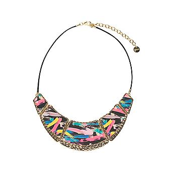 Desigual Women's Collar Wood Blue Necklace