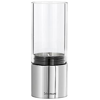 Blomus tea light holder FARO, stainless steel polished combined with glass