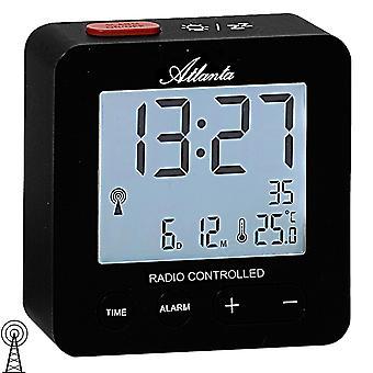Atlanta 1882/7 herätyskello radio herätyskello digital musta valossa lämpötila