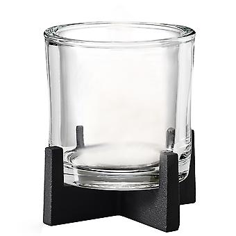 Blomus Lantern NERO steel powder-coated combined with glass