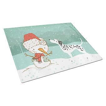 Dalmatian ja Lumiukko joululasi leikkuulauta Suuri