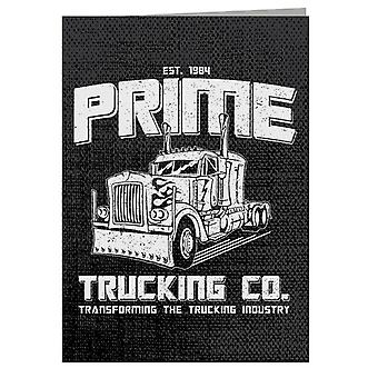 Transformers Inspired Prime Trucking Co Greeting Card
