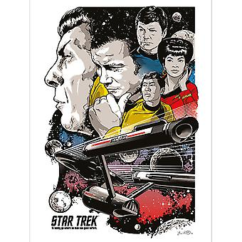 Star Trek Boldly Go 50th Anniversary Canvas Plate 60-80cm
