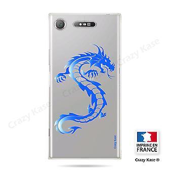 Rumpf für Sony Xperia Xz1 Soft Blue Dragon