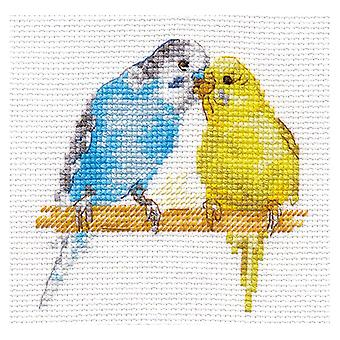 Alisa Cross Stitch Kit - Budgerigars