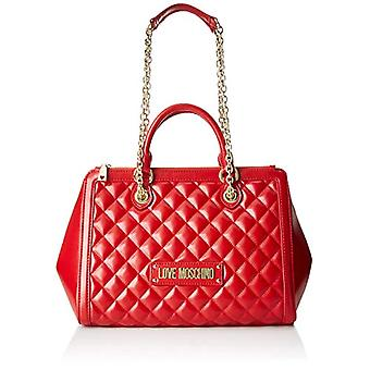 Love Moschino Quilted Nappa Pu Women's Shoulder Bag (Red) 15x10x15 cm (W x H x L)