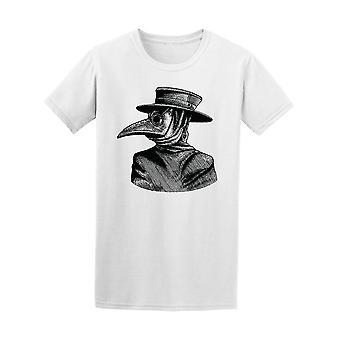 Médecin de peste Vintage dessin Tee homme-Image de Shutterstock