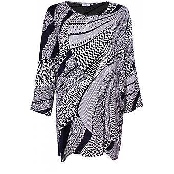 Masai Vaatteet Genista Navy Alkuperäinen Print Tunika