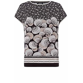 Olsen Light Sand Shell Print Top