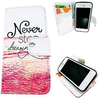Iphone 5/5 s/se2016 Fall/Wallet Leder - nie aufhören zu träumen...