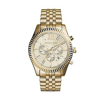 Michael Kors MK8281 Menn's Lexington Chronograph Watch - Gull