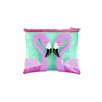 Sunnylife flamingo see through pouch