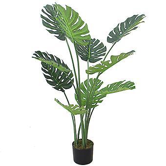 120cm (4ft) Luxury Monstera Plant Black Pot