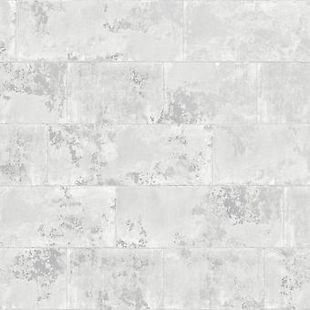 Metallic Brick Bakgrund Grå Rasch 248678