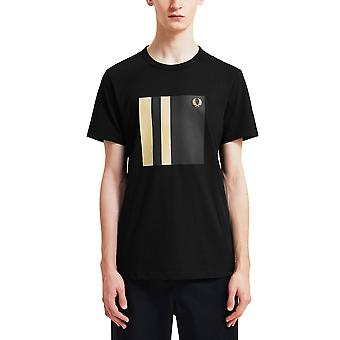 Fred Perry Men's Tipped Graphic T-Shirt Regular Fit