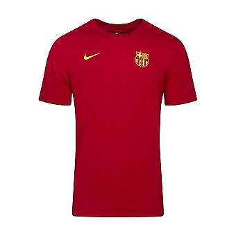 2020-2021 برشلونة الجافة الأساسية المباراة تي (الأحمر)