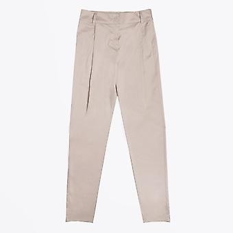 Ania Schierholt  - Cotton Pleated Trousers - Beige