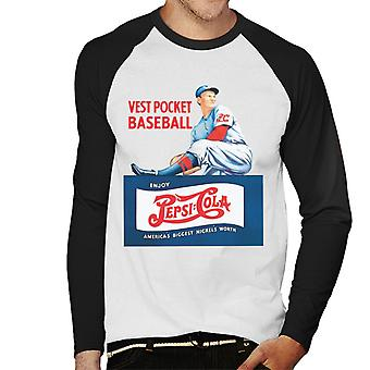 Pepsi Cola retro baseball mænds baseball langærmet T-shirt