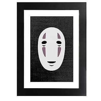 Ingen Ansiktsmask Studio Ghibli Spirited Bort Inramade Print