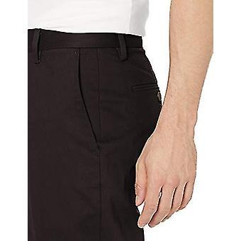 Goodthreads الرجال & apos;ق الرياضية تناسب تجعد الحرة اللباس تشينو بانت, أسود, 34W × 33L