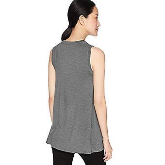 Marke - Tägliche Ritual Frauen's Jersey Muskel-Sleeve Swing Tunika, Kohle Heather, klein
