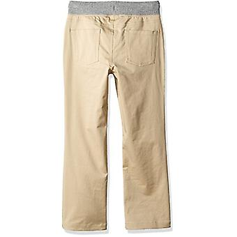 Brand - Spotted Zebra Boys' Big Kid Knit Waistband 5-Pocket Pants, Kha...