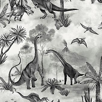 Dino Koninkrijk Dinosaur Wallpaper Mono Belgravia 7701