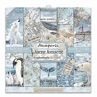 Stamperia Arktis Antarktis 12 x 12 Zoll Papier pack