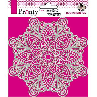 Pronty Crafts Mandala 4 6x6 Inch Stencil