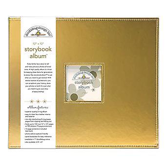 Doodlebug Design Gold 12x12 Inch Storybook Album