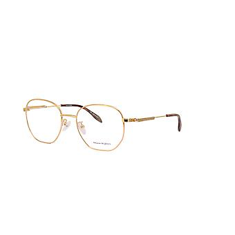 Alexander Mcqueen AM0267O 002 Gold Sunglasses