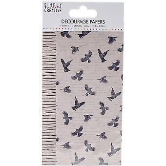 Simply Creative FSC Decoupage Paper - Birds
