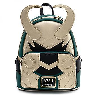 Marvel Loki Classic Helmet Mini Backpack by Loungefly
