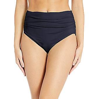 Carmen Marc Valvo Women's Shirred Waist Bikini Bottom Swimsuit, Ocean Waves D...