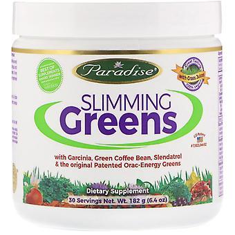 Paradise Herbs, Slimming Greens, 6,4 oz (182 g)