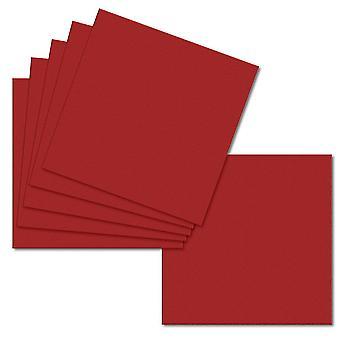 Chili Rød. 148mm x 296mm. Stor firkant. 235gsm Foldet kort Tom.