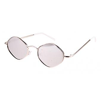Sunglasses Unisex Cat.3 Silver Lens (19-101)