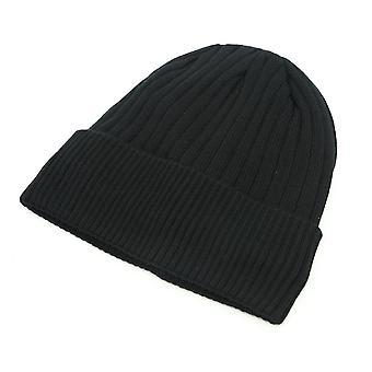Gestrickte Hut und Halswärmer - Männer - Schwarz